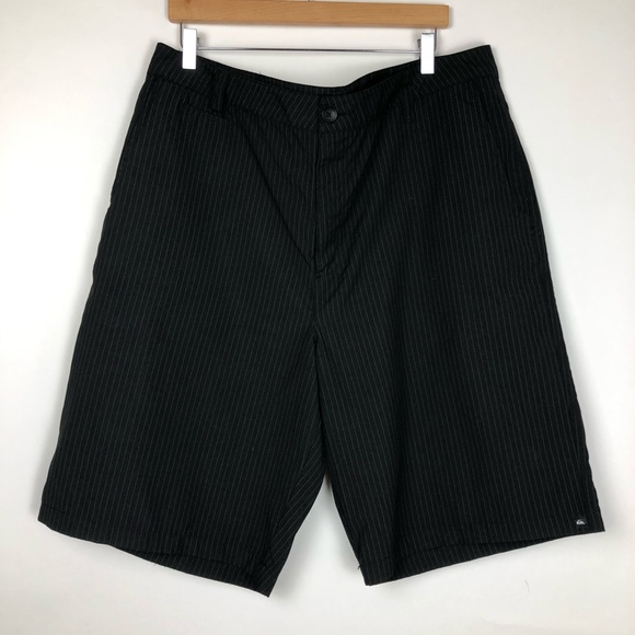 Quiksilver Other - Quiksilver Pinstriped Flat Front Shorts Size 40